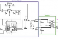 Rangkaian inverter pure sine wave layout